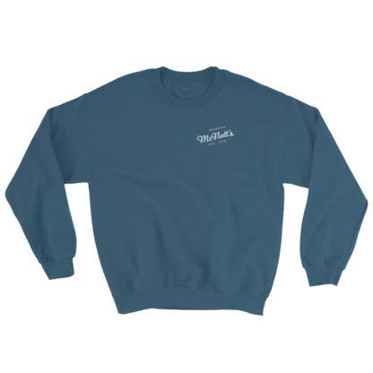 McNutt's Original Logo Sweatshirt in Teal Blue 1