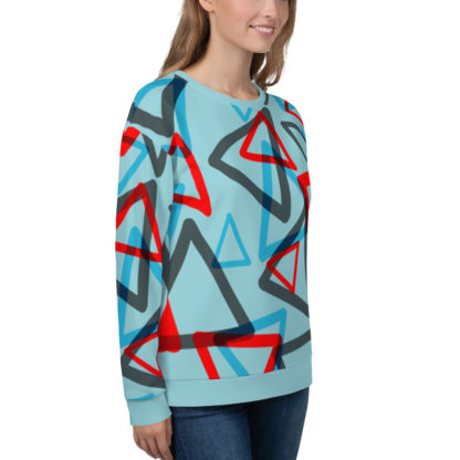 1980s Inspired Print All Over Unisex Sweatshirt 3
