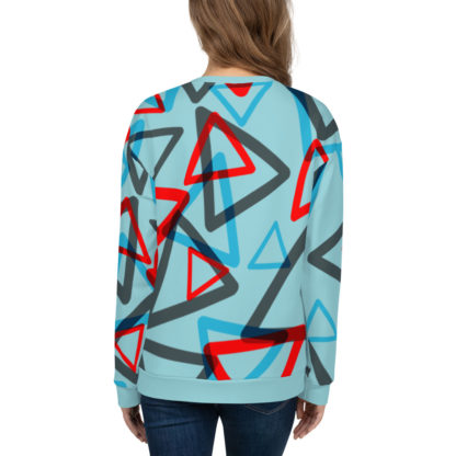 1980s Inspired Print All Over Unisex Sweatshirt 2