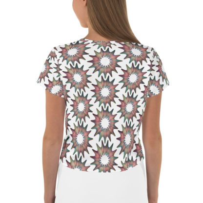 Cosmic Flower All-Over Pattern Crop Top 2