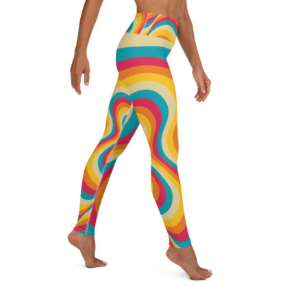 Retro Swirl Yoga Leggings 2