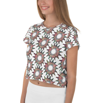 Cosmic Flower All-Over Pattern Crop Top 3