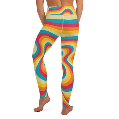 Retro Swirl Yoga Leggings 3