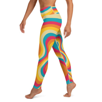 Retro Swirl Yoga Leggings 1