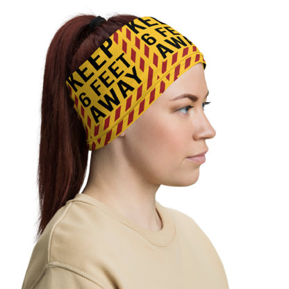 Girl wearing Neck Gaiter as headband