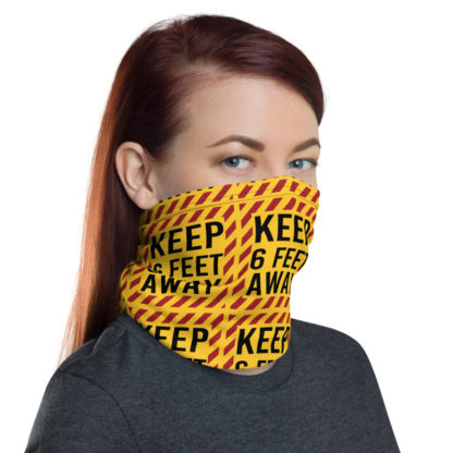 Social Distancing Keep 6FT Face Mask & Neck gaiter -Now Shipping from USA & EU fulfilment centres 6