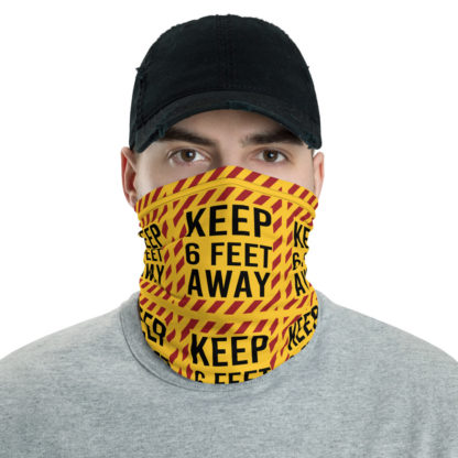 Social Distancing Keep 6FT Face Mask & Neck gaiter -Now Shipping from USA & EU fulfilment centres 1