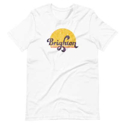 Brighton Sunset (Retro Vintage style Print 'Crack' Effect) T-Shirt 2