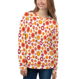 Retro Hippie Flower Power Sweatshirt