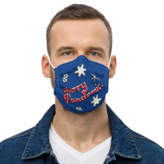 Merry Pandemic Blue Face mask
