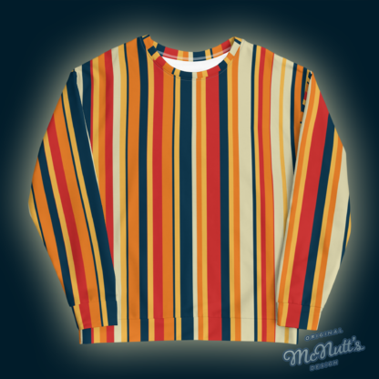 Retro Vertical Stripes Sweatshirt.
